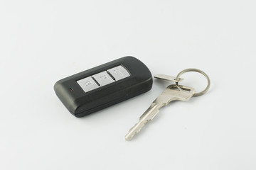 Car key remote on a white background