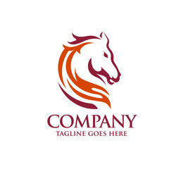 elegant Head Horse Logo Template Vector