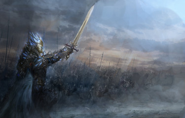 ice knight and his army
