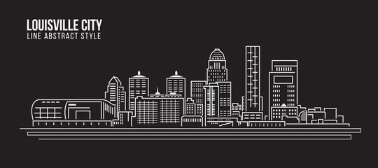 Cityscape Building Line art Vector Illustration design - Louisville City