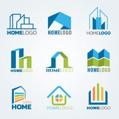 Modern and art Home logo vector set design