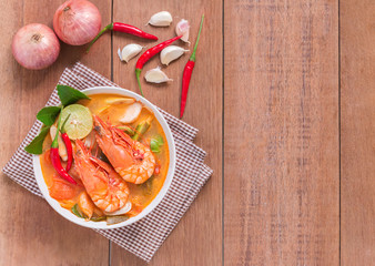 Tom Yam Kung and Ingredients, Thai cuisine, Thai food,