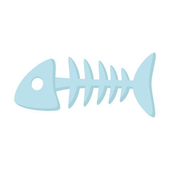 Fish bone icon of vector illustration for web and mobile