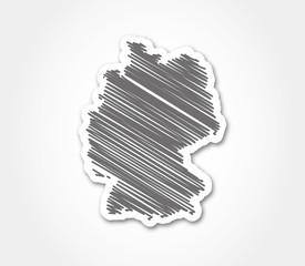 deutschland zeichnung silhouette