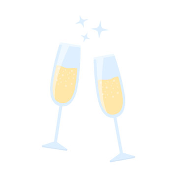 Champagne glass icon of vector illustration for web and mobile