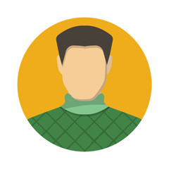 Male avatar icon of vector illustration for web and mobile