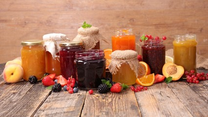 assorted jam and marmalade