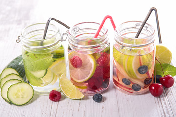 infused water in glass bottle