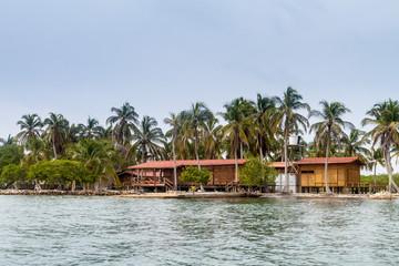 Resort on Boqueron island of San Bernardo archipelago, Colombia