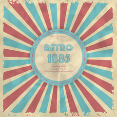 Retro background with radial rays