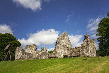 Medieval church ruin