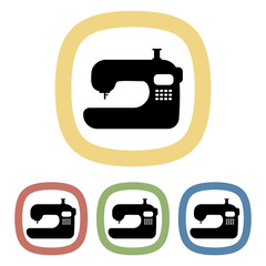 Sewing machine colorful icon
