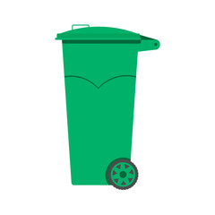 Trash can vector illustration, flat design.