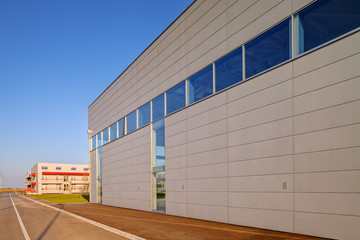 Modern building in exterior