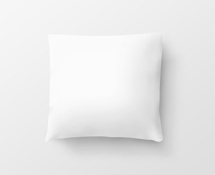 Blank white pillow case design mockup, isolated, clipping path, 3d illustration