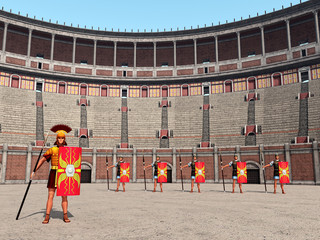 Kolosseum, Centurio und Legionäre im antiken Rom