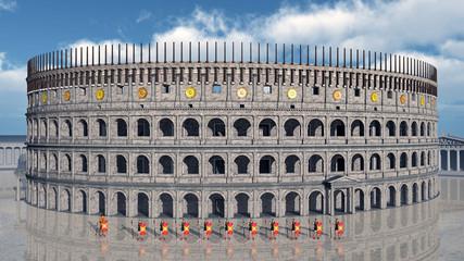 Kolosseum im antiken Rom
