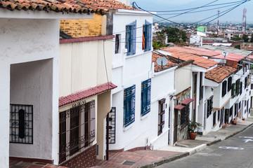 Street in San Antonio neighborhood of Cali, Colombia