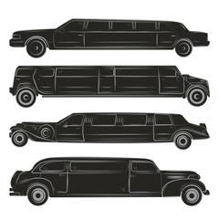 black  limousines set