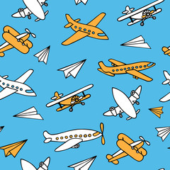 Seamless pattern of aircraft