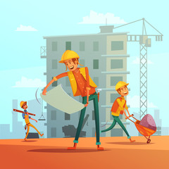Building And Construction  Industry Illustration