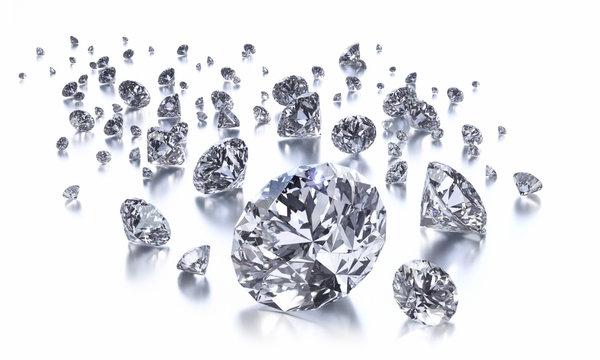 Diamanten Gruppe auf Weiss 2