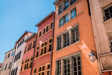Immeubles de la Croix-Rousse montée de la Grande Côte à Lyon