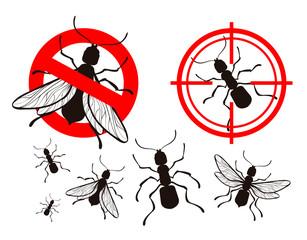 termite, ant. pest control icons set. vector illustration