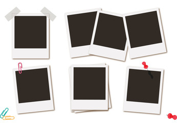 Photo frames retro instant picture black cards  illustration.