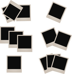 Set of photo frames,  illustration