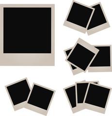 Retro photo frame isolated on white background. illustration