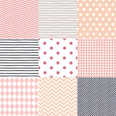 Set of 9 seamless patterns