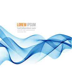 Abstract vector background, blue wave
