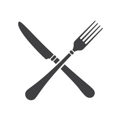 crossed fork over knife