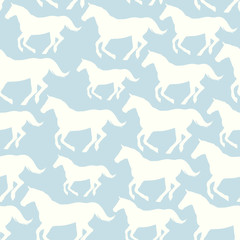 Seamless pattern with stylized horses