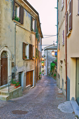 Evening small street Tuscany, Italy