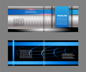 Vector empty brochure template design elements