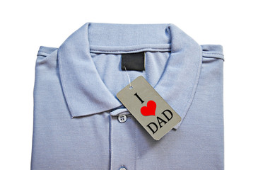 I love dad on tag price of Men's t-shirt.
