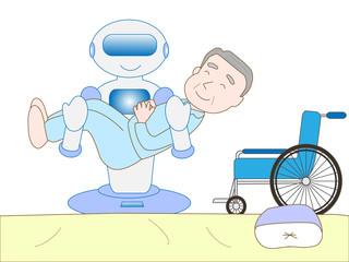 介護するロボット