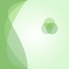 Green background. Abstract vector.