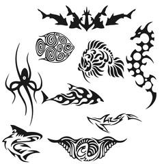fish tattoo illustration