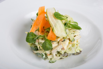 Russian salad with vegetables