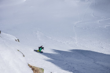 Freeriding in high mountains