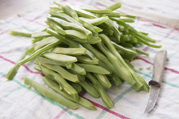 raw french beans