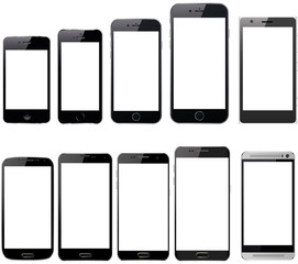 Mobile Phone Smartphone Collection Blank Device