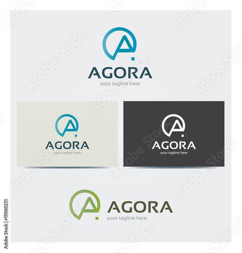 Logo Lettre A Carte De Visite Et Charte Graphique Entreprise Plusieurs Couleurs