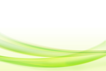 abstract green color curve waves background