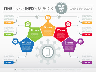 Part of the report with logo and icons set. Vector infographic