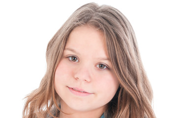 portrait of the beautiful young girl