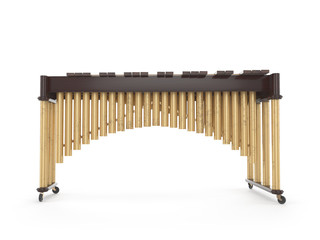 Marimba isolated on white 3d rendering